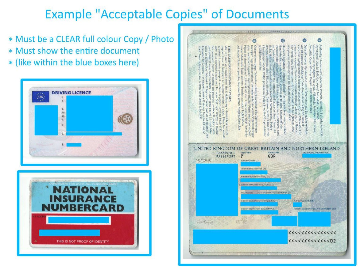 Example of Acceptable Copies